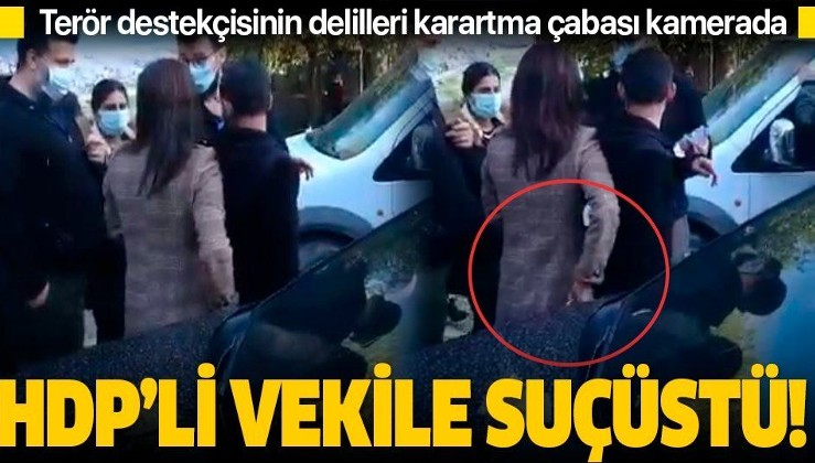 SON DAKİKA: Terör destekçisi HDP Milletvekili Nuran İmir'den skandal hareket: Delilleri örtbas etmeye çalıştı