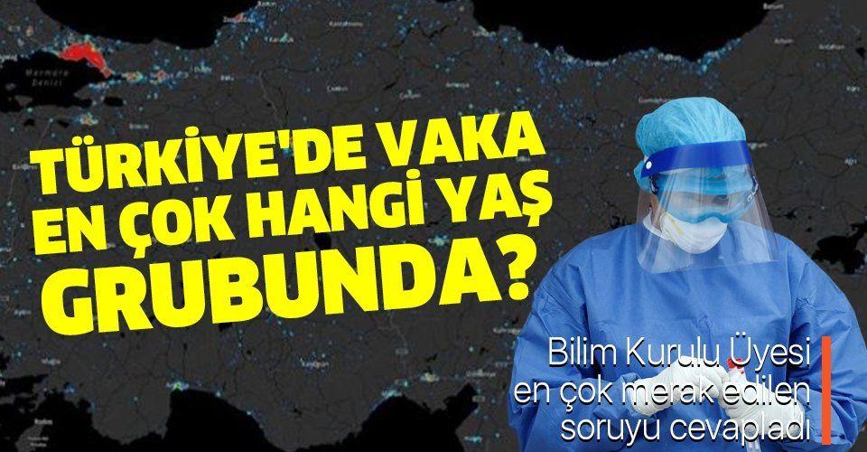 Türkiye'de koronavirüs vakası en çok hangi yaş grubunda? Bilim Kurulu Üyesi Prof. Dr. Levent Yamanel açıkladı