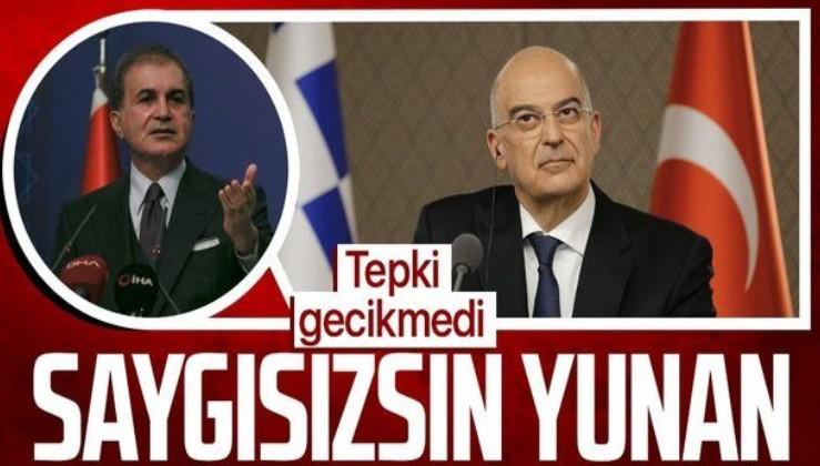 AK Parti Sözcüsü Ömer Çelik'ten Yunan Bakan Dendias'a tepki: Saygısızlık ve bağnazlık bir diplomasi yöntemi değildir