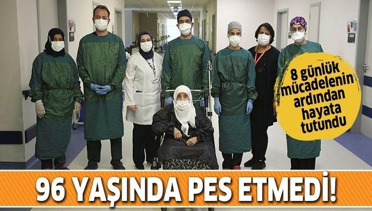 Koronavirüse yakalanan 96 yaşındaki Hasibe nine sekiz günün ardından hayata tutundu
