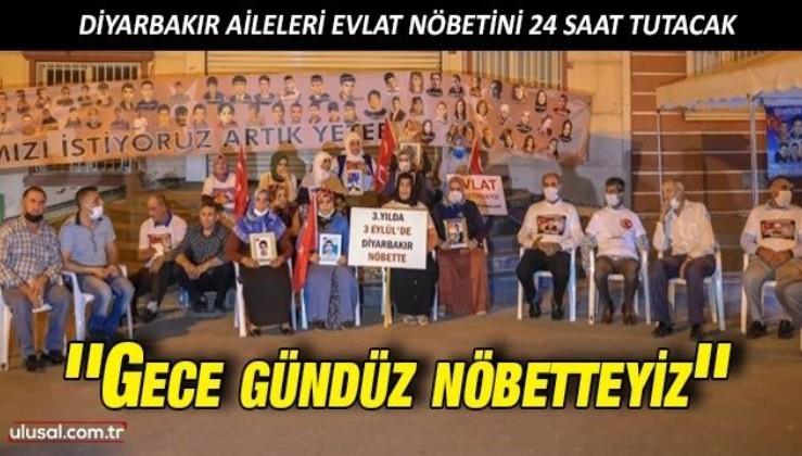 Diyarbakır Aileleri evlat nöbetini 24 saat tutma kararı aldı