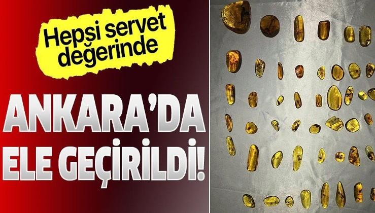 Son dakika: Ankara'da 1 milyon lira değerinde tespih ve doğal taş ele geçirildi
