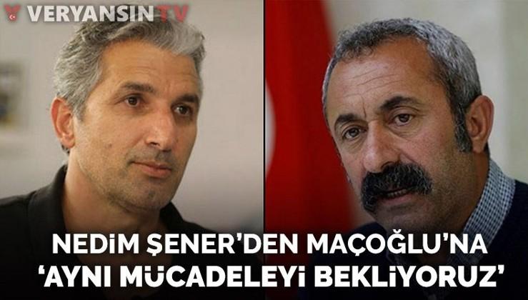 Nedim Şener'den Fatih Mehmet Maçoğlu'na: PKK'lıların karşısında da aynı mücadeleyi bekliyoruz