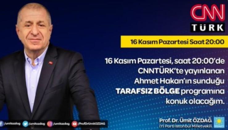 Ümit Özdağ CNN Türk'te gündem yaratacak açıklamalar yapacak