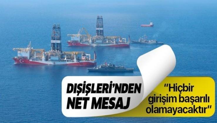 Dışişleri Bakanlığından Doğu Akdeniz açıklaması.