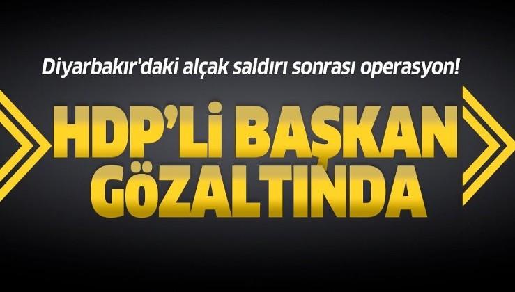 Son dakika: ABD'ye cevap: Diyarbakır'daki alçak saldırı sonrası operasyon! HDP İlçe Başkanı gözaltında.