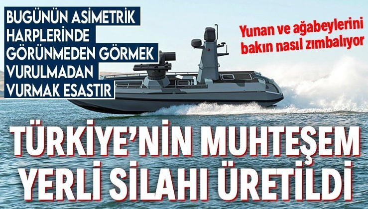 Türkiye denizlerde gücünü artırıyor! İlk Silahlı İnsansız Deniz Aracı'mız (SİDA) üretildi