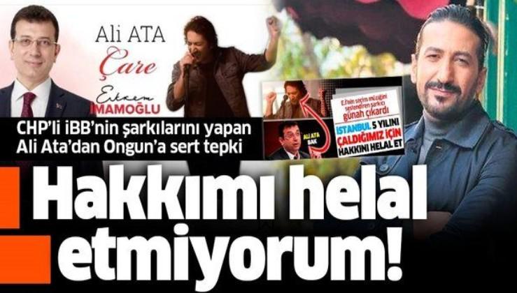 SON DAKİKA: CHP'ye şarkı yapan Ali Ata İBB Sözcüsü Ongun'u yalanladı
