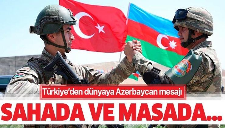 Türkiye'den dünyaya net mesaj: Sahada ve masada can Azerbaycan'ın yanındayız