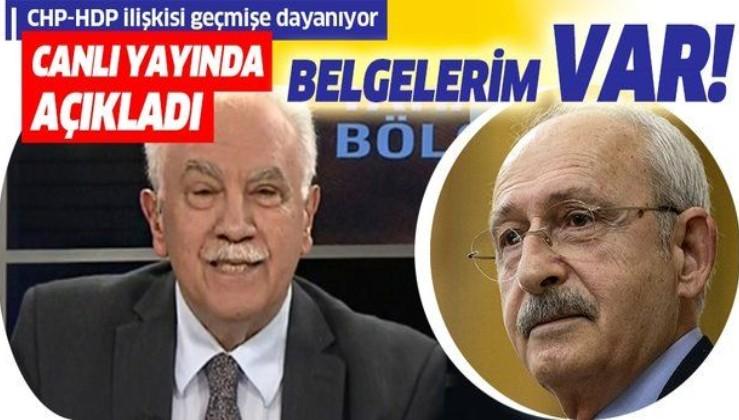 Doğu Perinçek'ten flaş Kılıçdaroğlu açıklaması: Belgelerim var!.