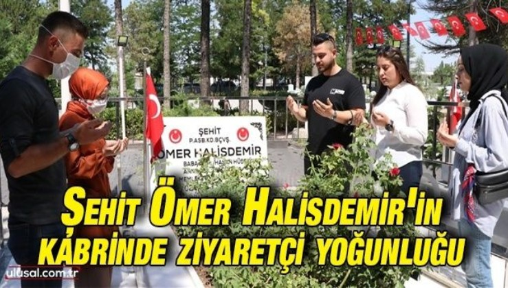 Şehit Ömer Halisdemir'in kabrinde ziyaretçi yoğunluğu