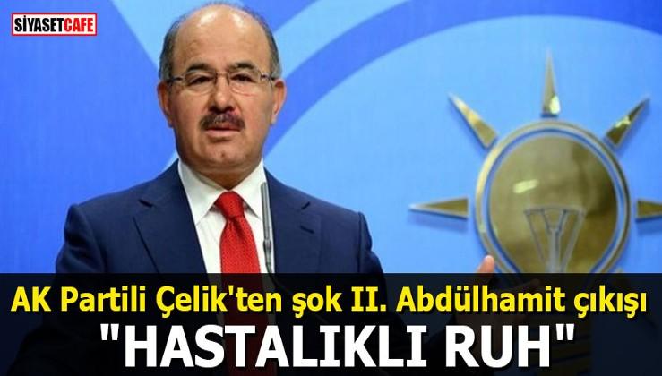 """AK Partili Çelik'ten şok II. Abdülhamit çıkışı: """"Hastalıklı ruh"""""""