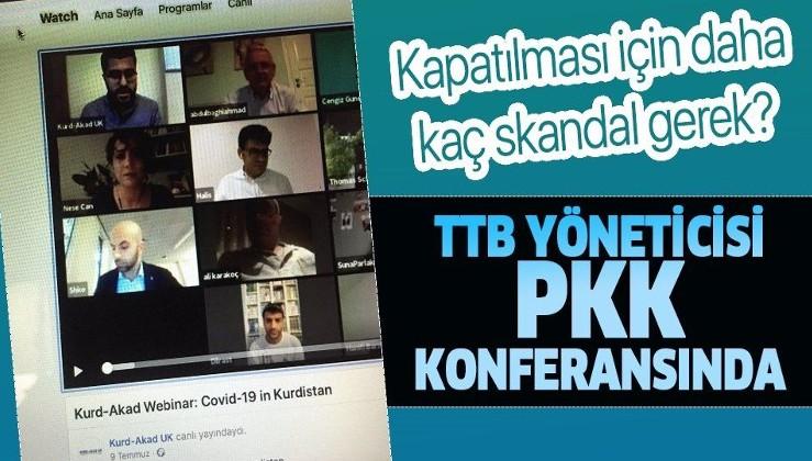 TTB yöneticisi Halis Yerlikaya PKK konferansında: İşte çok konuşulacak o fotoğraf