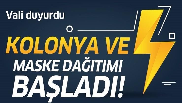 Son dakika: İstanbul Valisi Ali Yerlikaya açıkladı: Kolonya ve maske dağıtımı başladı