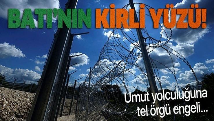 Batı'nın kirli yüzü! Sırbistan umut yolculuğuna tel örgü çekti