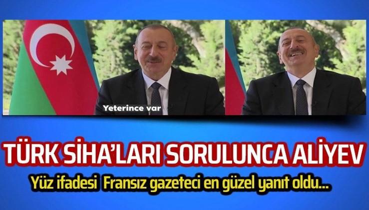 Fransız gazeteci SİHA'ları sorunca Aliyev'in tavrı gündem oldu