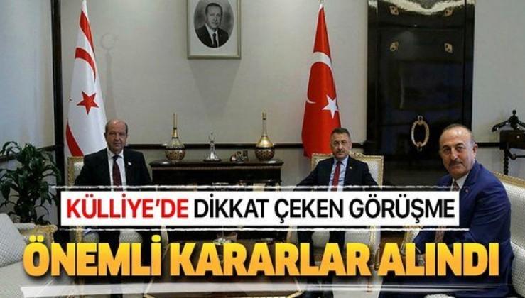 Cumhurbaşkanı Yardımcısı Fuat Oktay'ın, KKTC Başbakanı Ersin Tatar'ı kabulünde önemli kararlar alındı
