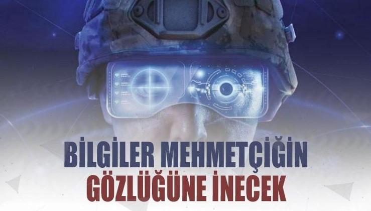 Muharebe sahasındaki tüm bilgiler askerin gözlüğüne inecek