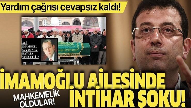 Ekrem İmamoğlu'nun öz amcası Ali İmamoğlu'nun intiharı aileyi mahkemelik etti! Eşinden kalan evi alamayınca icralık oldu