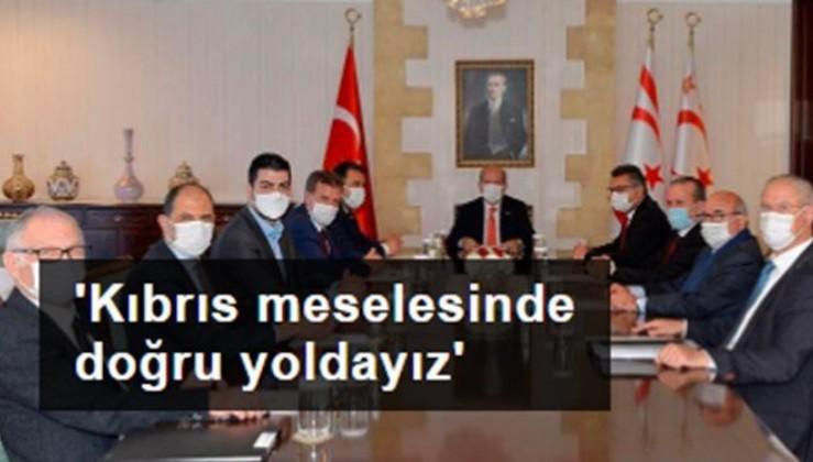 KKTC Cumhurbaşkanı Tatar: Kıbrıs meselesinde doğru yoldayız