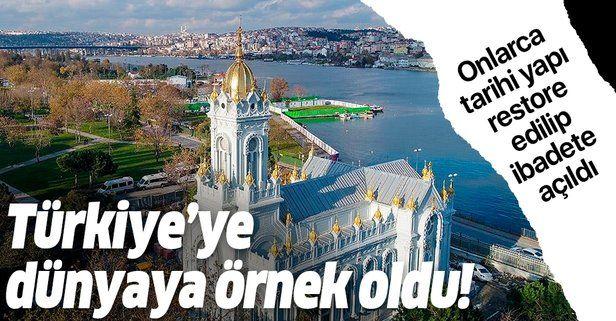 Türkiye'den tüm inançlara aynı hassasiyet: Onlarca tarihi yapı restore edilip ibadete açıldı