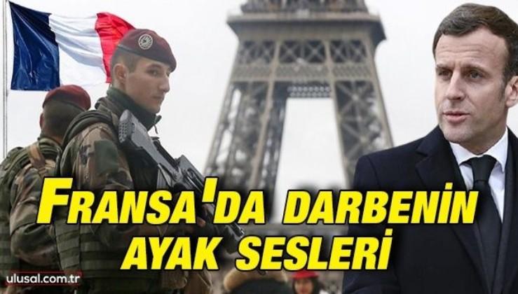 Macron'a askerden ikinci bildiri: Fransa'da darbenin ayak sesleri