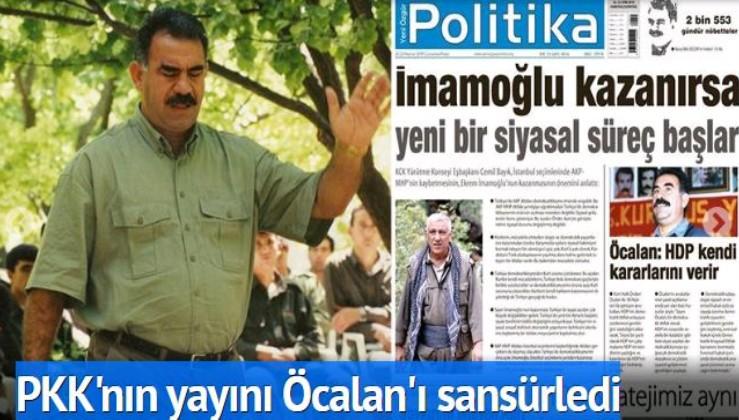 Terör örgütü HDPKK'nın yayını Öcalan'ı sansürledi