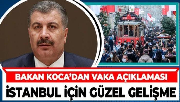 Son dakika! Sağlık Bakanı Fahrettin Koca'dan İstanbul için kritik açıklama: Vakalarda düşüş görüldü