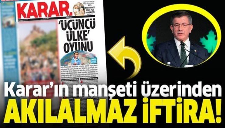 Ahmet Davutoğlu Karar Gazetesi'nin manşetini dillendirdi! Uygur Türkleri üzerinden akılalmaz iftira
