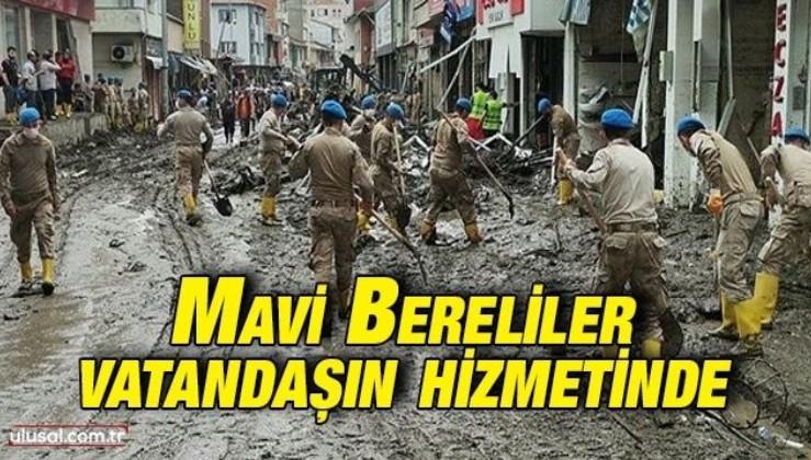 Komandolar, Kastamonu Bozkurt'taki sel felaketinin ardından vatandaşların yaralarını sarmak için çalışıyor