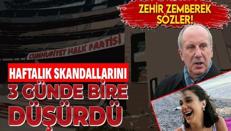 Muharrem İnce: CHP haftalık skandallarını 3 günde bire düşürdü!