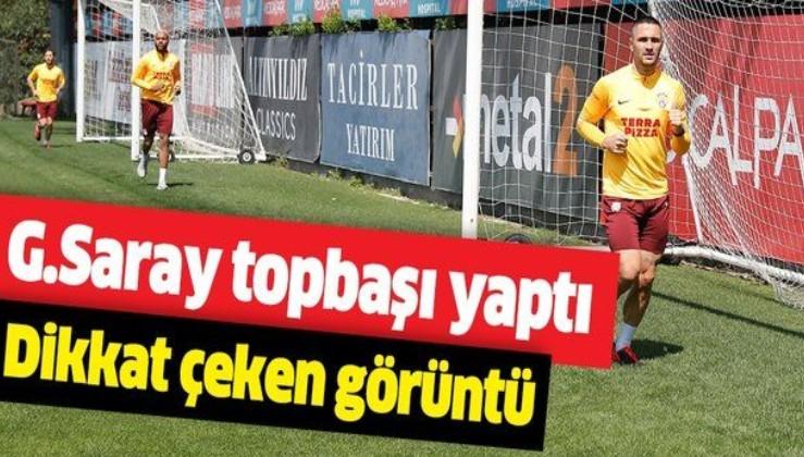Son dakika: Galatasaray topbaşı yaptı! İdmanda dikkat çeken görüntü