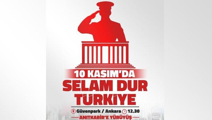 TGB'den 10 Kasım çağrısı: Selam dur Türkiye