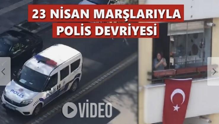 Ankara'da 23 Nisan marşlarıyla polis devriyesi