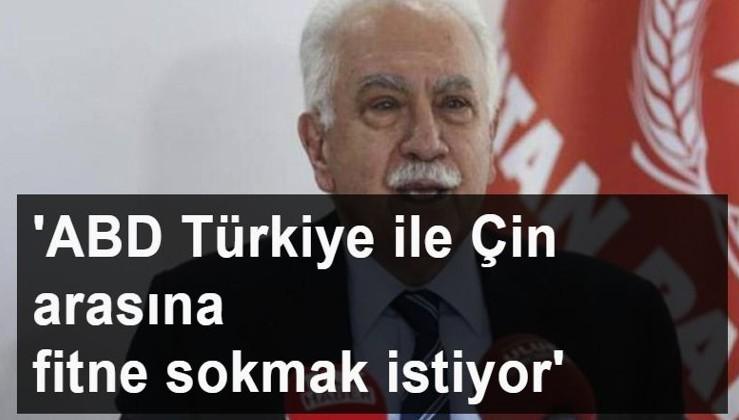 Doğu Perinçek:'ABD Türkiye ile Çin arasına fitne sokmak istiyor'
