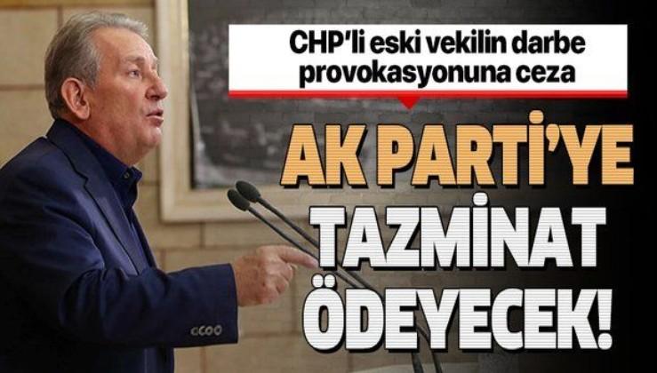Mahkeme kararını verdi: Eski CHP Milletvekili Haluk Pekşen AK Parti'ye tazminat ödeyecek.