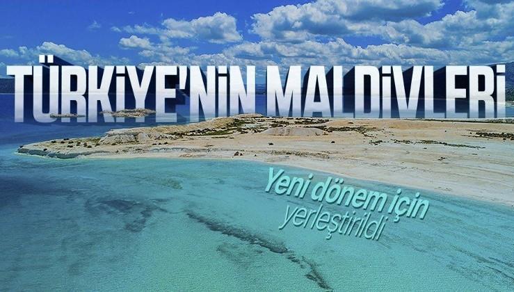 Türkiye'nin Maldivleri! Salda Gölü'ne cankurtaran kulesi yerleştirildi