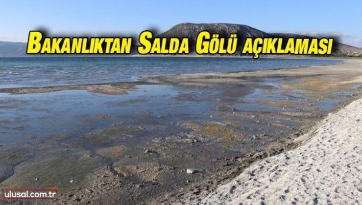 Çevre ve Şehircilik Bakanlığından Salda Gölü açıklaması: Sarımtırak görüntünün sebebi ne?
