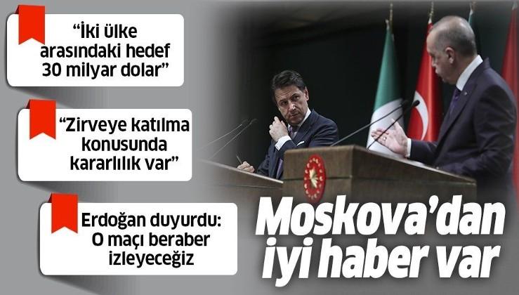 Cumhurbaşkanı Erdoğan ve İtalya Başbakanı Conte'den flaş Libya açıklaması.