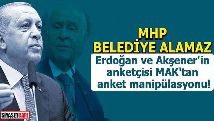 Erdoğan ve Akşener'in anketçisi MAK'tan anket manipülasyonu!