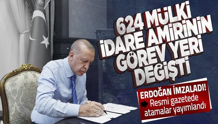 Resmi Gazete'de yayımlandı! 624 mülki idare amirinin görev yerleri değiştirildi
