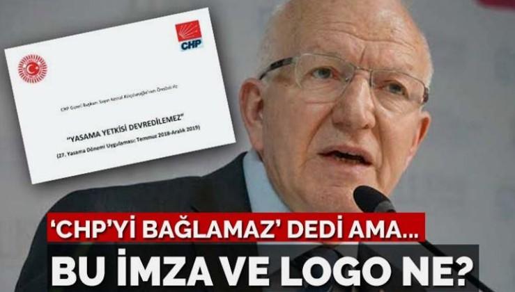 Kaboğlu 'CHP'yi bağlamaz' dedi ama bu imza ve logo ne?