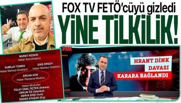 FOX TV, FETÖ'cü Ercan Gün'ün Hrant Dink cinayetinden hapis cezası almasını görmezden geldi!