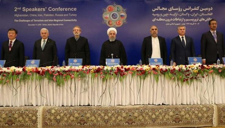 Yıldırım, Tahran'daki terör konferansında konuştu: Üçlü işbirliğini altıya çıkaralım