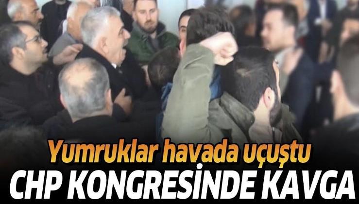 Son dakika: CHP İl Başkanlığı kongresinde kavga! Partililer birbirine girdi