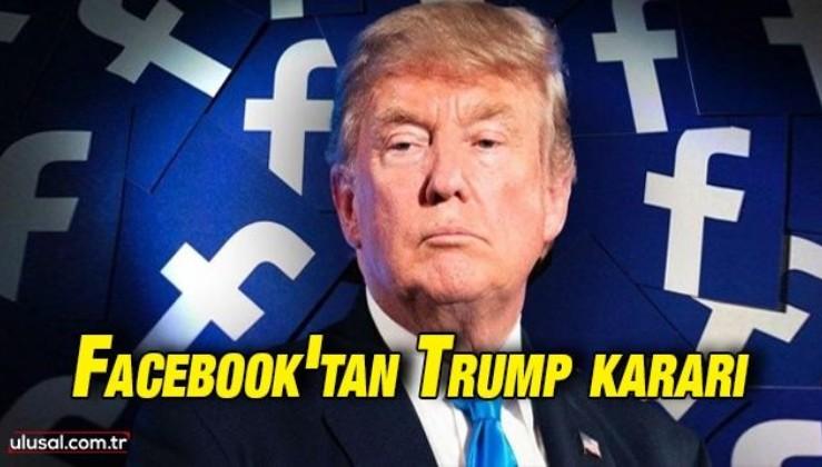 Facebook Trump'ın hesabını 2023'e kadar kapalı tutacak