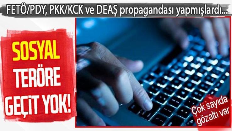 Sosyal medyadan terör örgütü FETÖ/PDY, PKK/KCK ve DEAŞ propagandası yaptığı iddia edilen 39 kişi gözaltına alındı