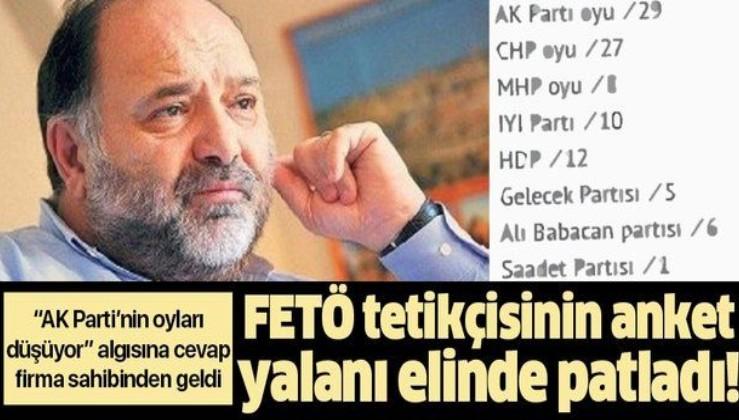 FETÖ'nün tetikçisi Eser Karakaş'tan uydurmasyon anket!.