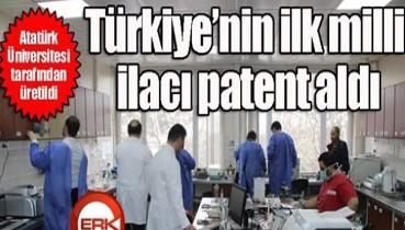 Atatürk Üniversitesi'nde Türkiye'deki ilk 'milli ilaç' üretildi