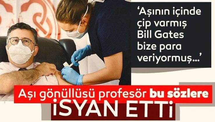 Aşı gönüllüsü profesör: Aşıyla ilgili kanıtı olmayan şeylere inanmayın!